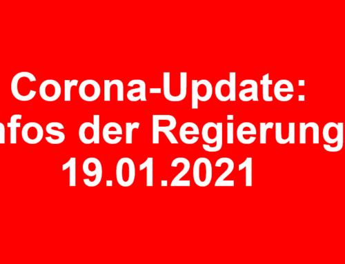 Corona-Update: Informationen der St.Galler Regierung vom 19.01.2021