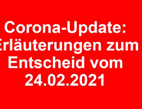 Corona-Update: Erläuterungen und Verordnung besondere Lage