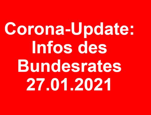 Corona-Update: Infos des Bundesrates vom 27.01.2021