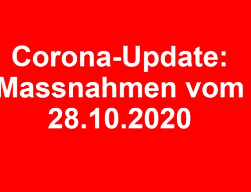 Corona-Update: Massnahmen des Bundes vom 28.10.2020