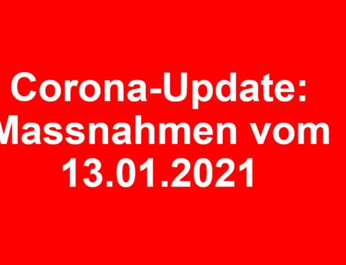 Corona-Update: Massnahmen des Bundesrates vom 13.01.2021