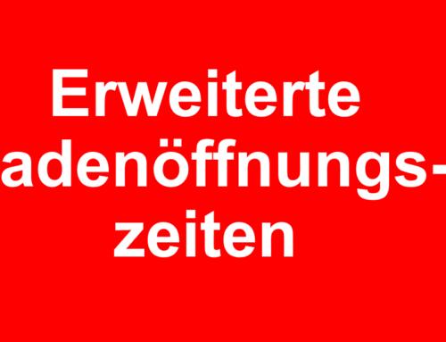 Erweiterte Ladenöffnungszeiten Stadt St.Gallen