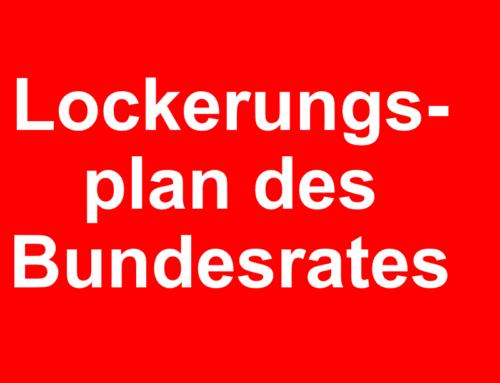 Lockerungsplan ab 6. Juni