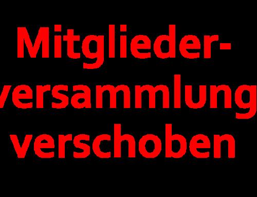 Verschiebung Mitgliederversammlung 2020