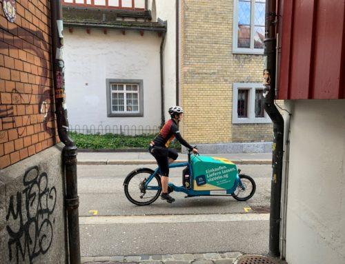 «viaVelo.sg»: Einkäufe aus der St.Galler Innenstadt bequem liefern lassen